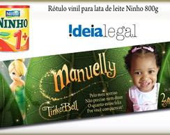 R�tulo Vinil - Lata Leite Ninho 800g