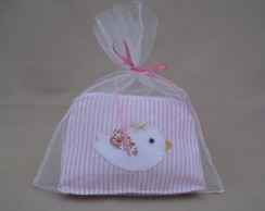 Lembran�a mini bolsinha passarinho