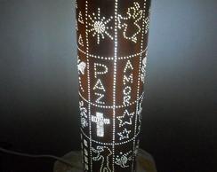 Lumin�ria em PVC Retalho
