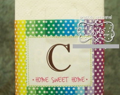 Mini Lencinhos de Papel Sweet Home