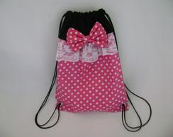 mochila minnie rosa ( 35 X 25 )