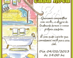 Arte Digital Convite Ch� Casa Nova