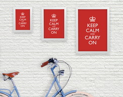 Pop Poster A5 - Keep Calm and Carry On
