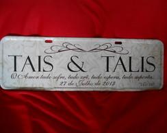 Placa Tais e Talis