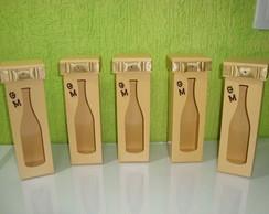 Caixas para Mini vinhos Personalizadas.