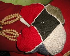 bolsa croch� ,squares coloridos