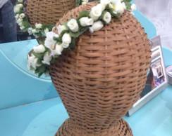 Arco/Coroa de Flores Off-Whithe