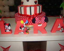 Letras Decorativas 3D - Minnie