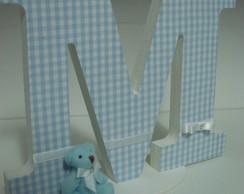 Letra em MDF decorada urso