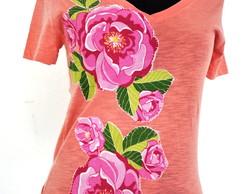 Camiseta- flores e flores