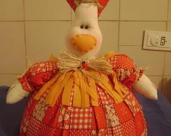 Cobre bolo galinha com prato