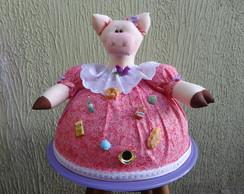 Cobre bolo porquinha