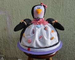 Cobre bolo de pinguim