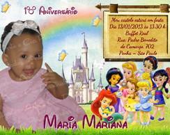 Convite Personalizado - Princesas Disney