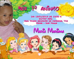 Convite  - Princesas Baby Disney
