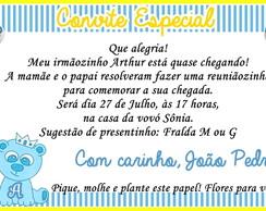 convite ch� de beb� papel semente