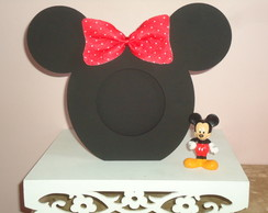 Porta retrato MDF Mickey e Minnie