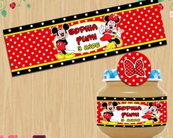 Etiqueta potinho Mickey e Minnie