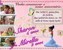 Convite -  A Princesa e o Sapo - 1