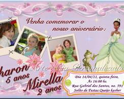 Convite -  A Princesa E O Sapo - 2