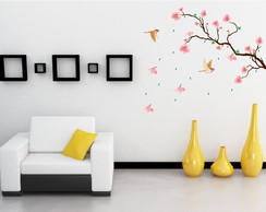 Adesivo �rvore Flores   120cm x 90cm