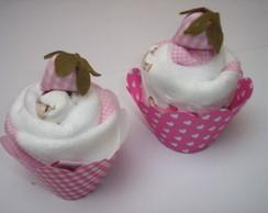 Cup cake toalhinha de m�o..