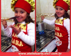 Kit mini chef Avental e chap�u