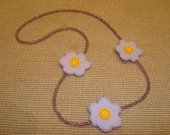 Colar - mi�angas e flores!