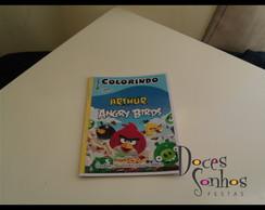 Livrinho para colorir angry birds