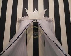 Kit Dossel Coroa Branca + Mosquiteiro