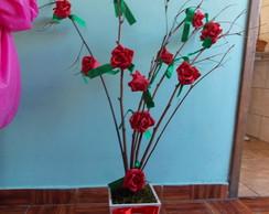 �rvore Francesa com Rosas