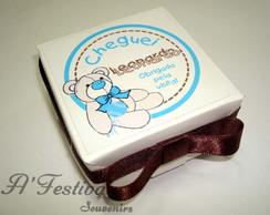 Caixa Ursinho La�o Azul