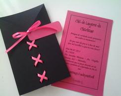 Convite para Ch� de Lingerie Corpete