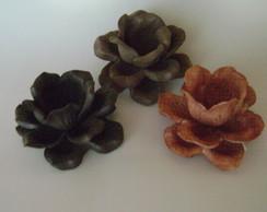 Forminha Para Bombom- Rosas cor marrom