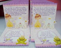 Convite Princesas 3d 2