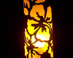 Lumin�rias  em PVC Floral