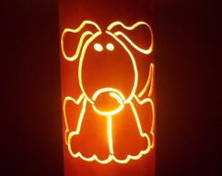Lumin�rias em PVC Cachorro