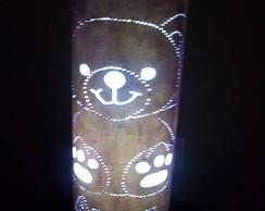 Lumin�ria em PVC Urso Personalizada