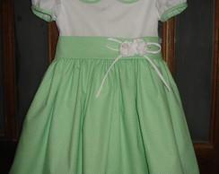 Vestido infantil em tricoline