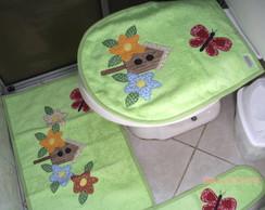 Jogo de Banheiro Atoalhado Verde 4 Pe�as