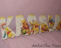 Letras personalizadas urso pooh