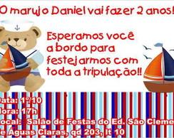 Ursinho Marinheiro Convite Anivers�rio