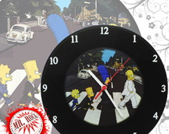 Rel�gio Vinil The Simpsons Abbey Road