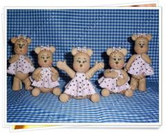 ursinhas marrom com rosa