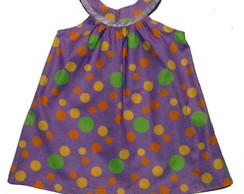 Vestido Tricoline Estampada 100% Algod�o