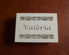 Caixa Personalizada Floral Com Nome