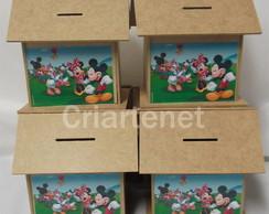 Casinha cofre madeira Mickey Mouse