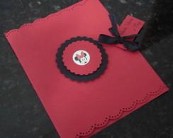 Convite Personalizado Minnie Vermelha