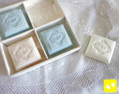Caixa 4 Sabonetes FOREVER personalizados