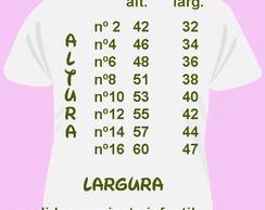 Medidas camisetas infantil